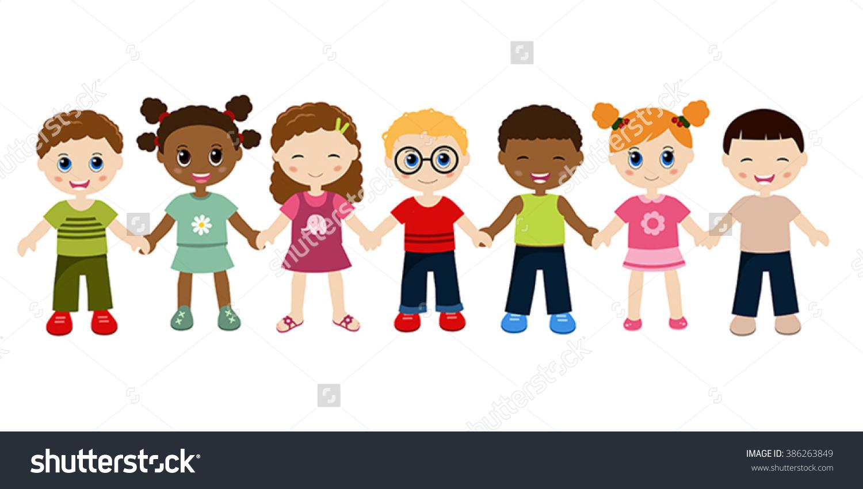Children Holding Hands.-Children Holding Hands.-2