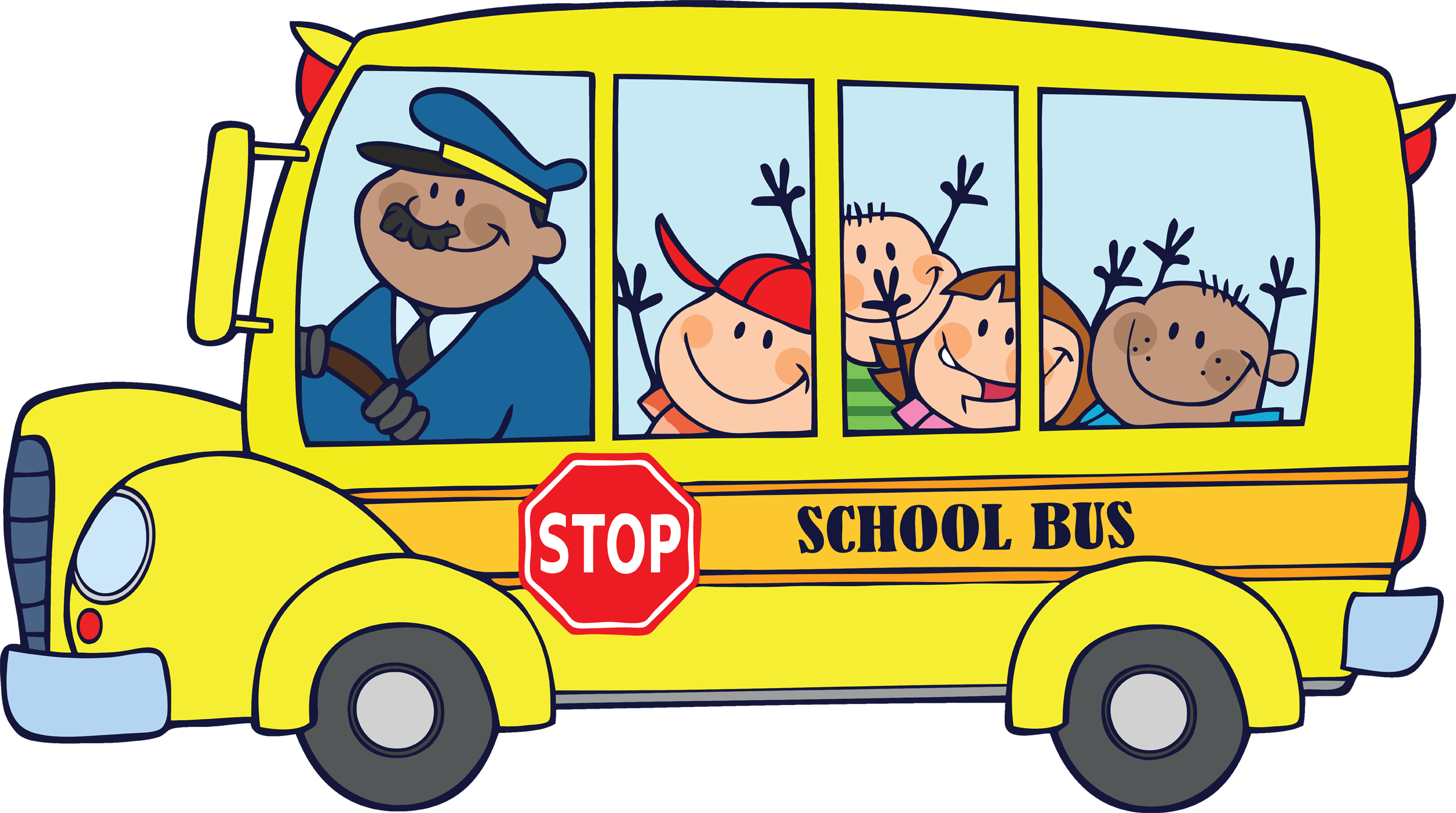 Children on school bus clipar - Clipart School Bus