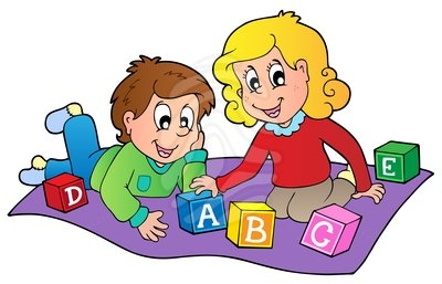Children playing clipart 6