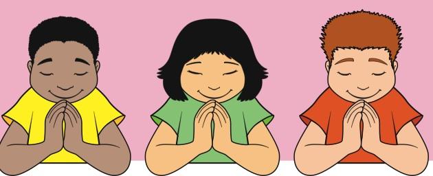 Children Praying Clipart Free .