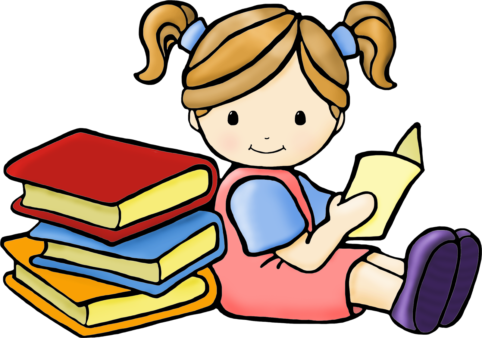 Children ... reading clipart
