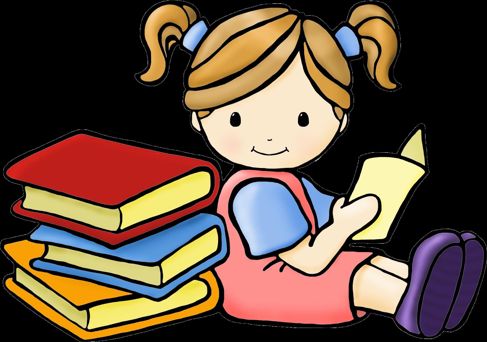 Children ... Reading Clipart-Children ... reading clipart-2