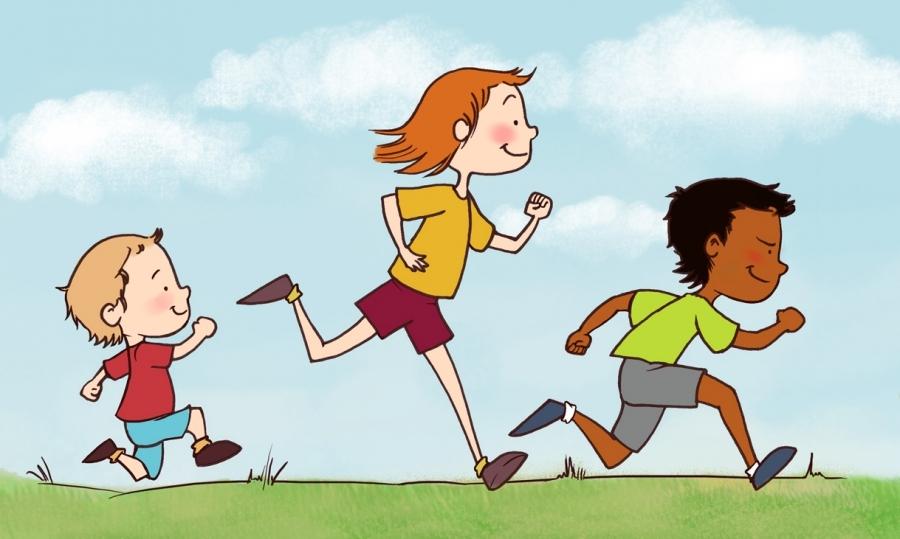 Children Running Clipart Clipartsgram Com