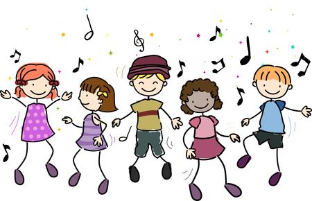 Children Singing Clipart #19603
