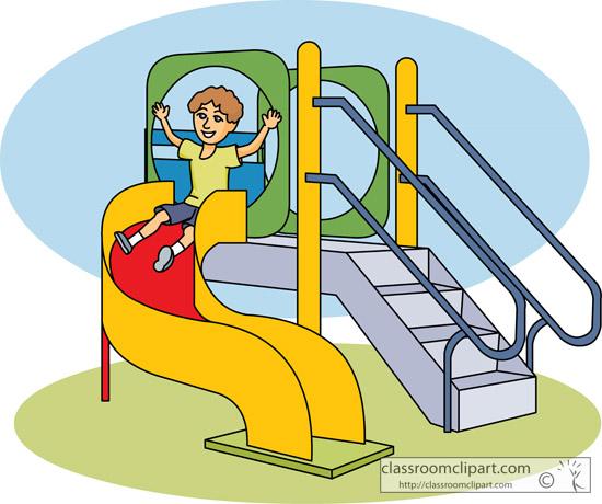 Children Spiral Playground Slide 08 Classroom Clipart