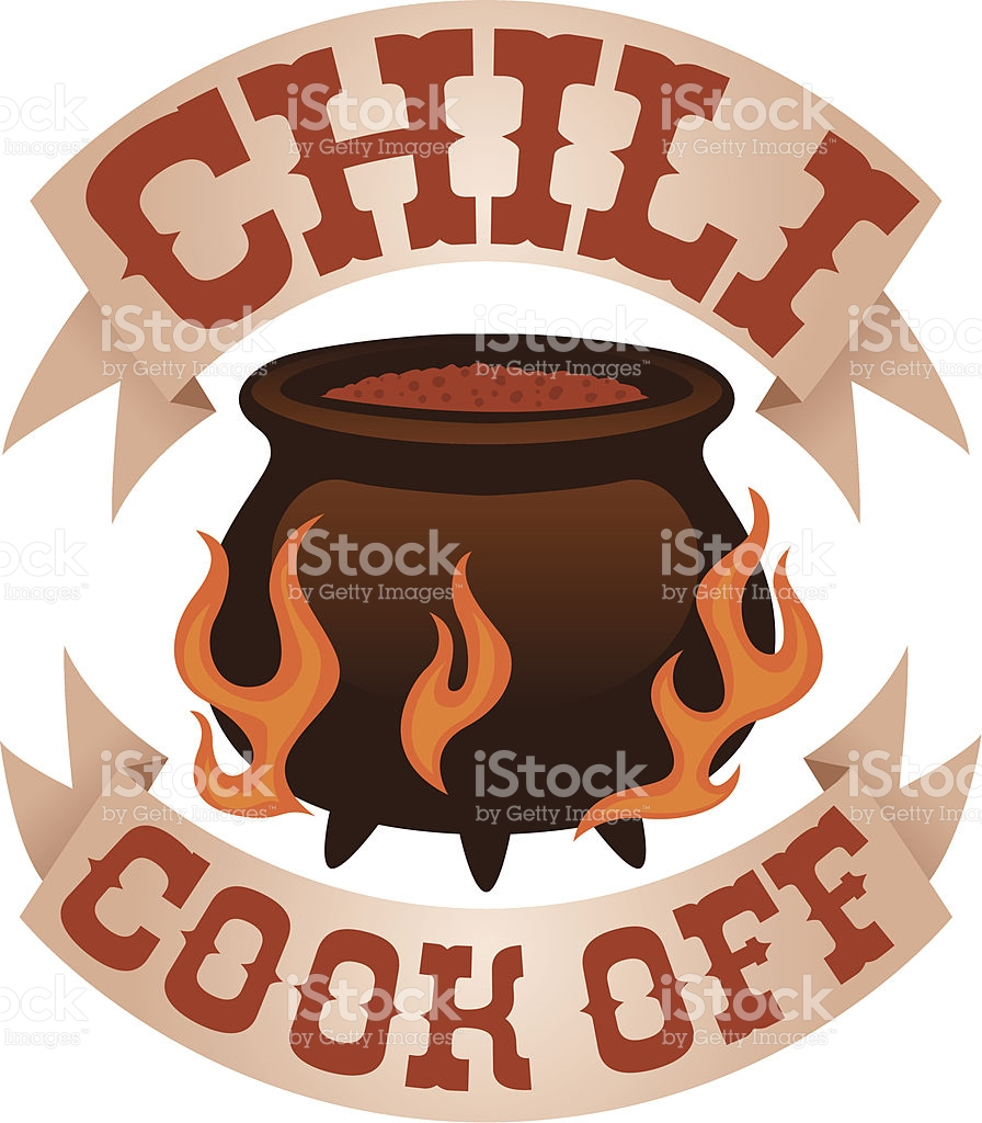 chili cook off logo royalty-free stock vector art