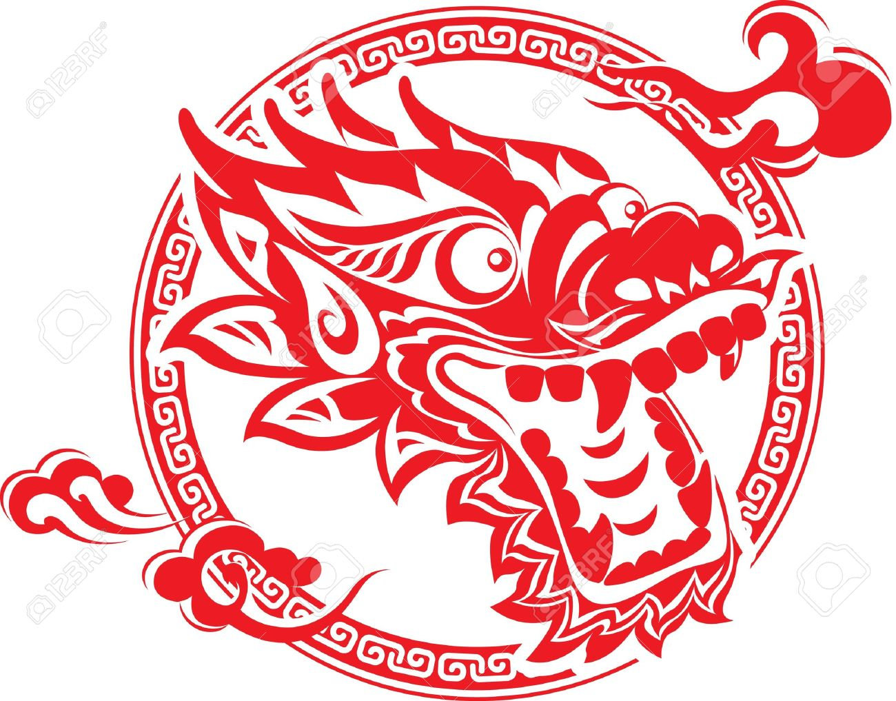Chinese Dragon: Red Chinese .-chinese dragon: Red Chinese .-5