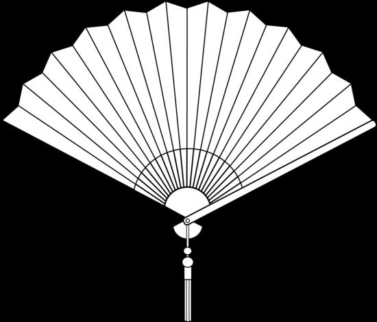 Chinese Fan Line Art