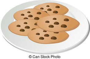chip cookies on a plate .