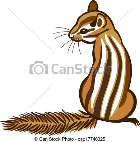 ... Chipmunk - vector illustration of a chipmunk sitting with... Chipmunk Clip Artby ...