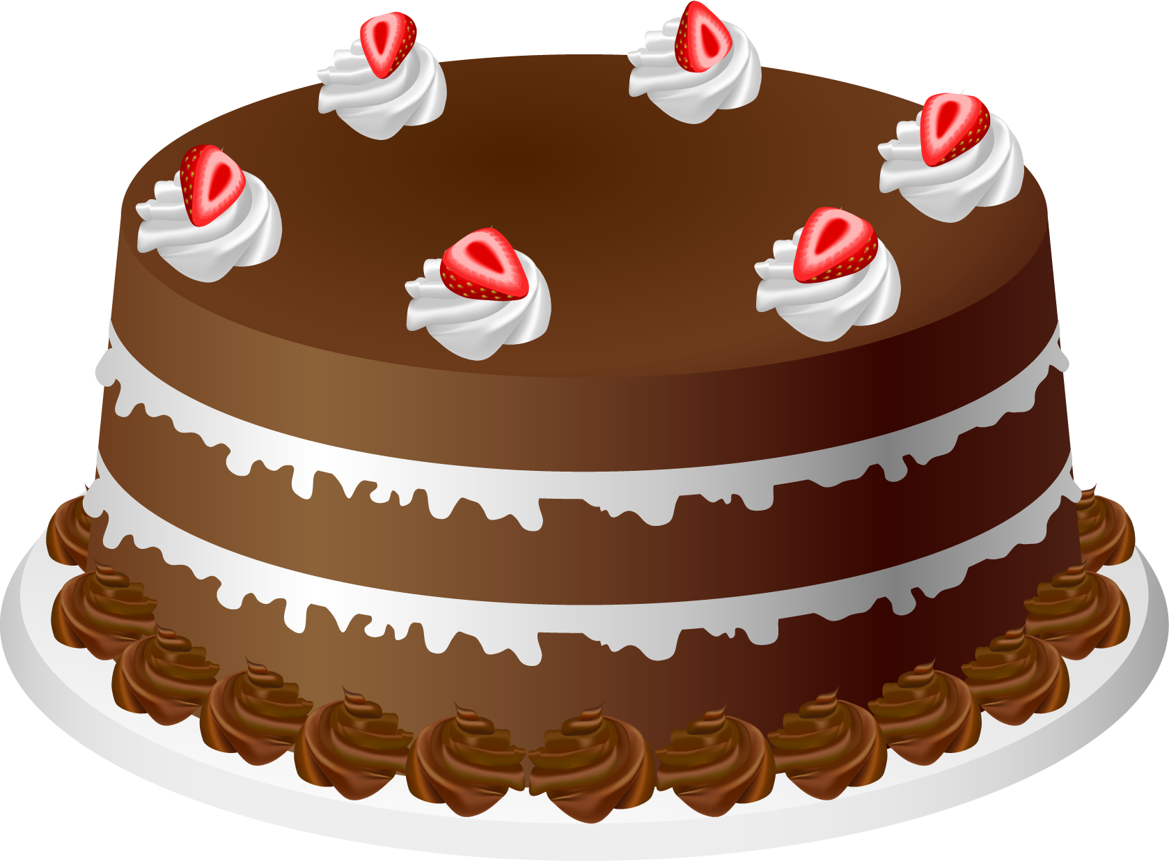 Chocolate Cake Clipart - Clip Art Cake
