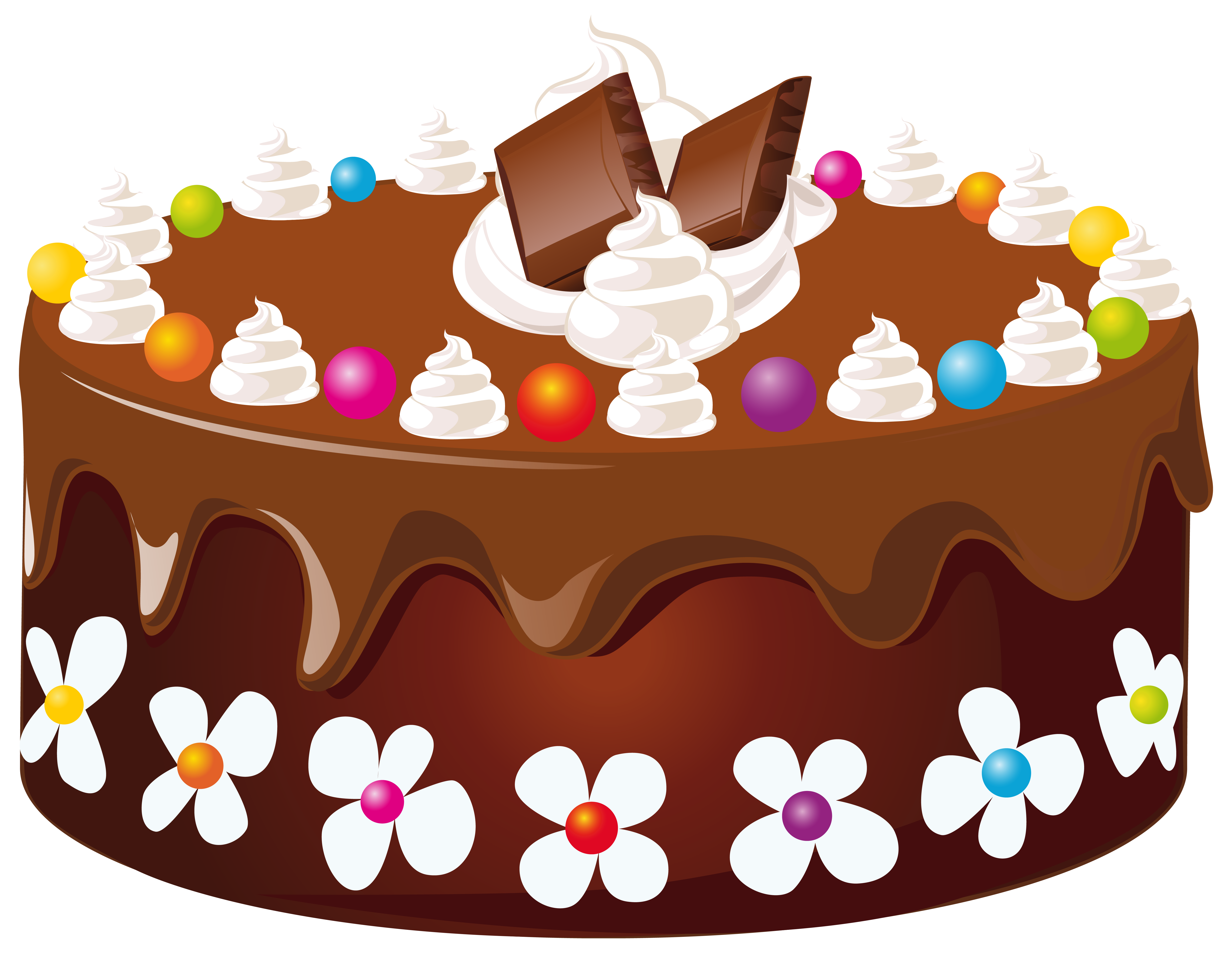 Chocolate cake clipart - .