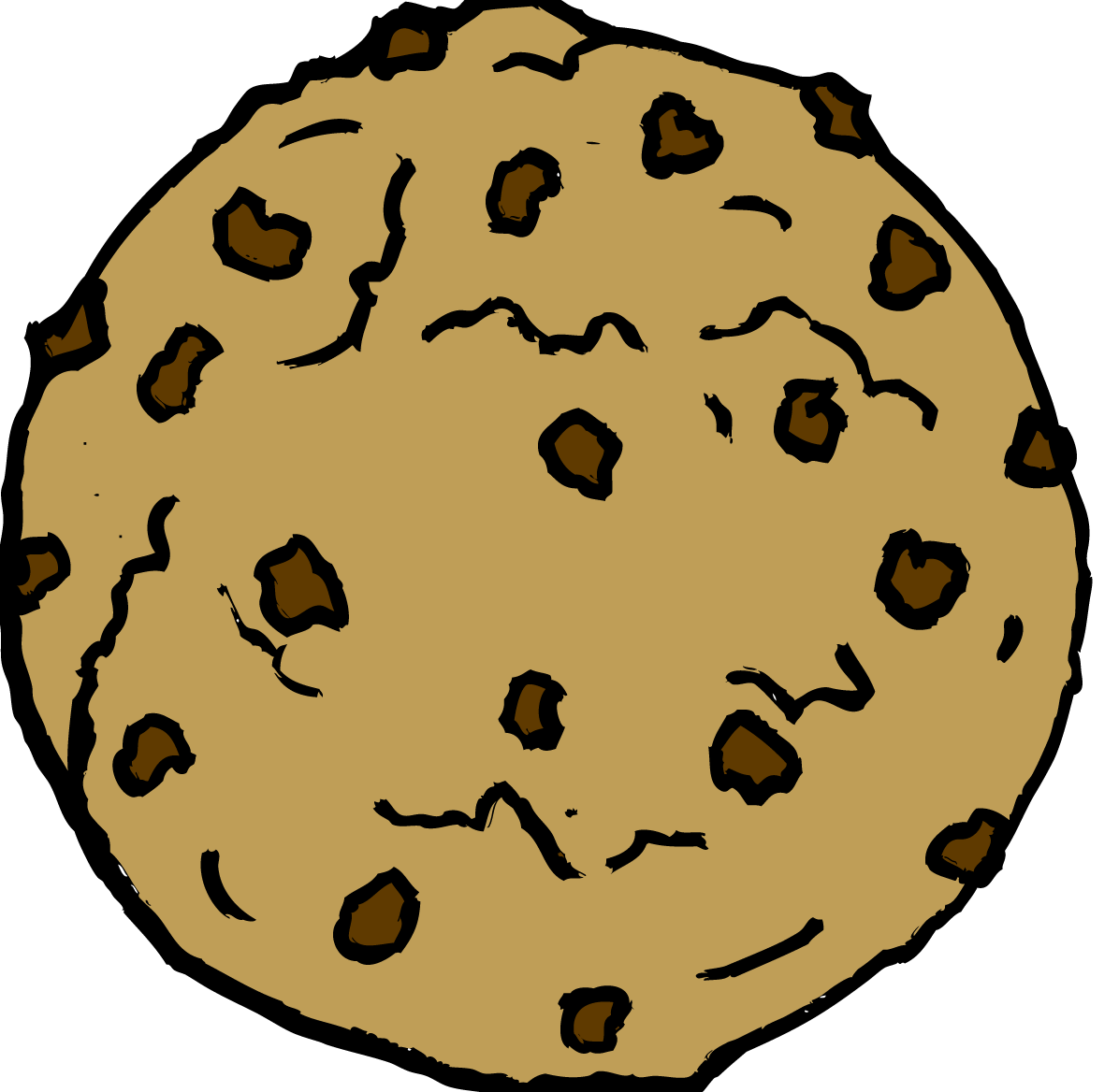 Chocolate Chip Cookie Clipart #15858-Chocolate Chip Cookie Clipart #15858-8