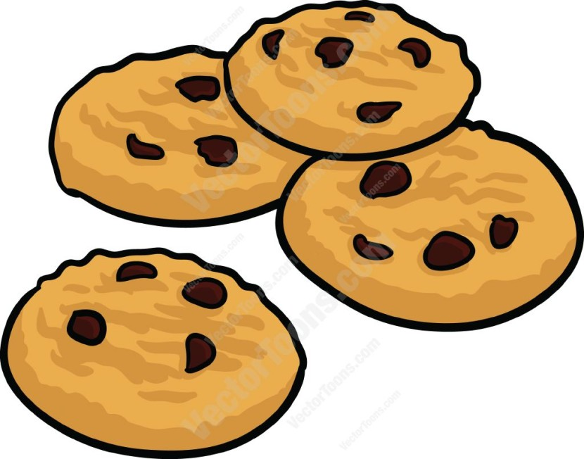 Chocolate Chip Cookies On A Plate Free C-Chocolate Chip Cookies On A Plate Free Clipart-10