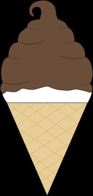 Chocolate Coated Soft Serve Ice Cream Cone