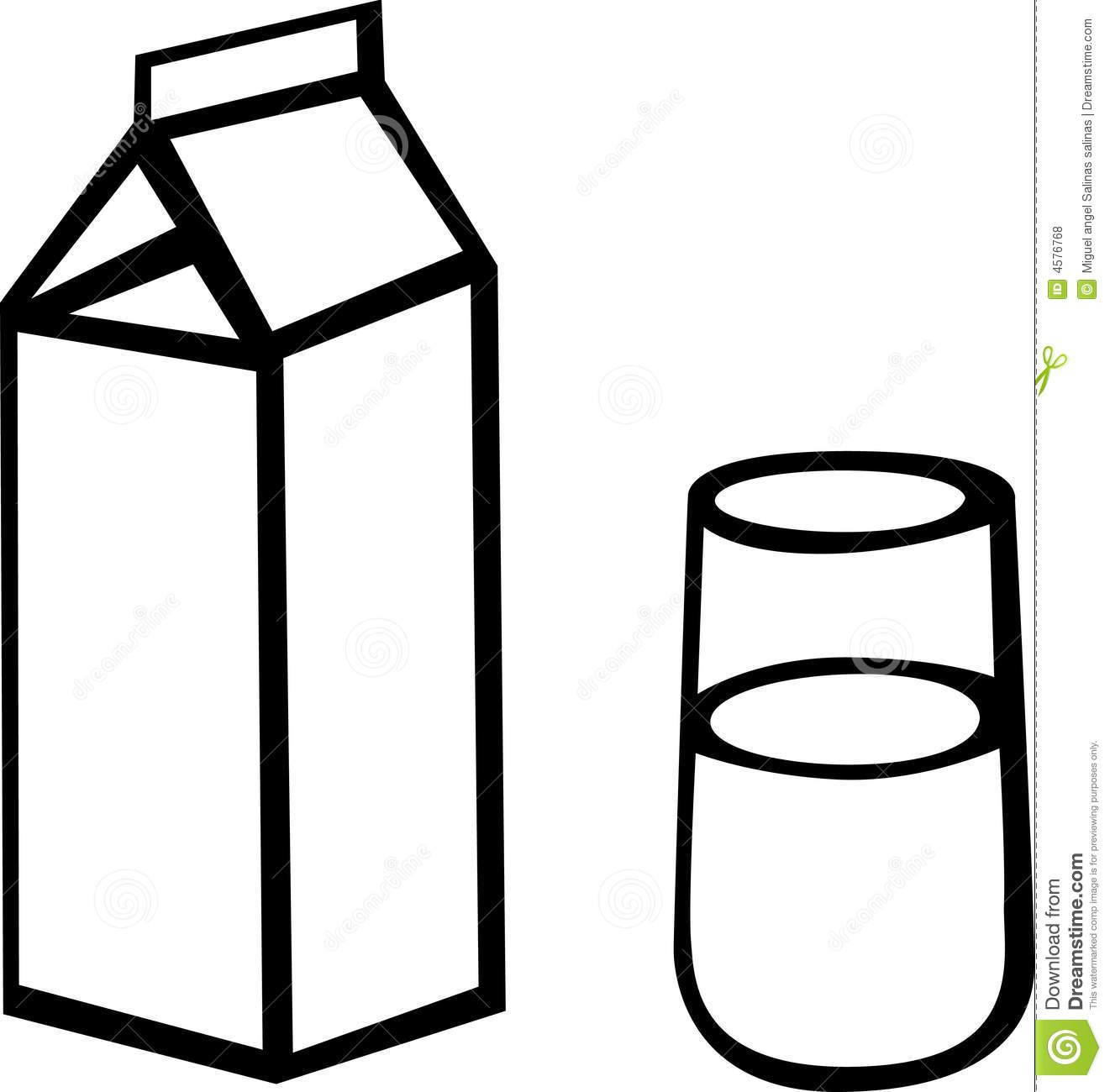 Chocolate Milk Carton Milk Carton Glass Vector Illustration 4576768