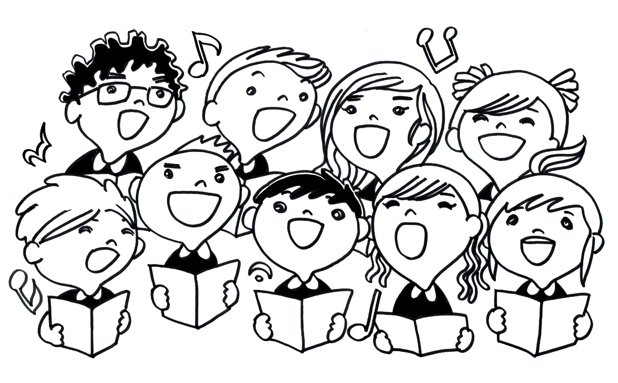 Choir anniversary clipart