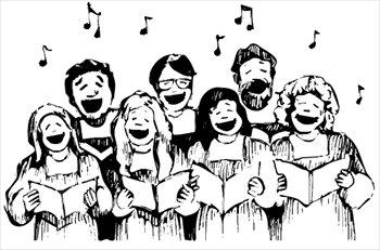 Choir men clipart