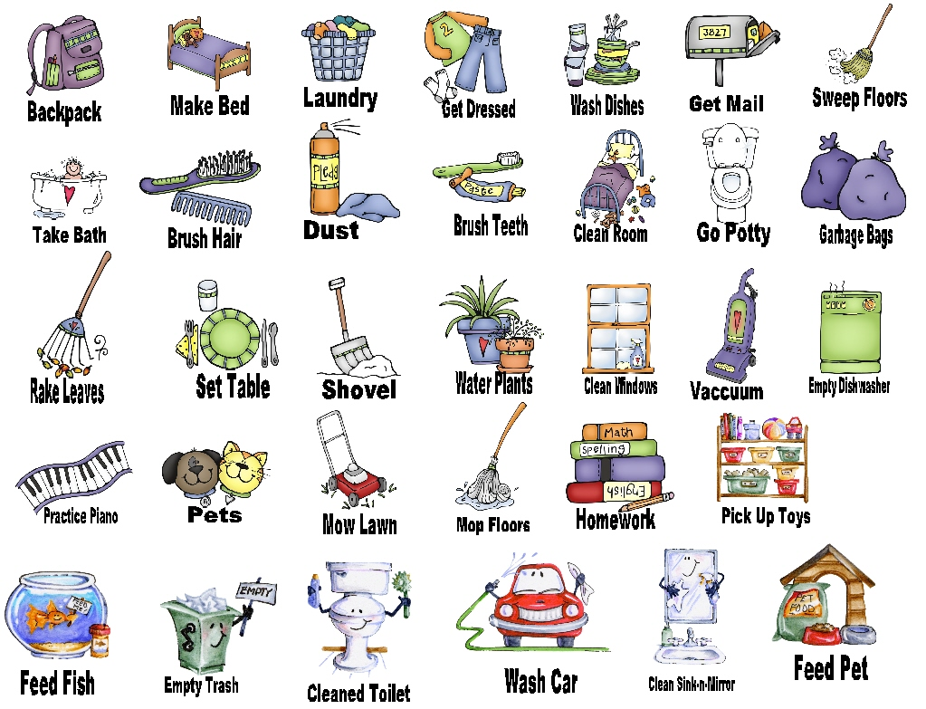 Chores Clip Art | Home Images Chores Pic-Chores Clip Art | home images chores picture chores picture facebook twitter google  ... | Learn ya | Pinterest | Home, Pictures images and Facebook-9