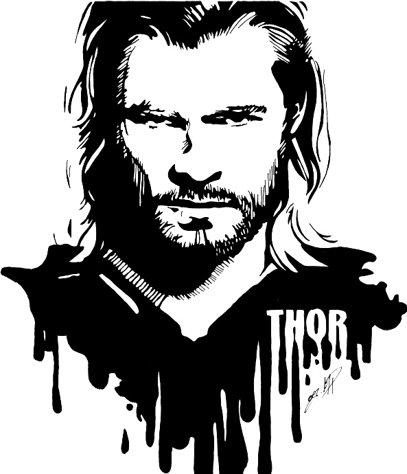 Chris Hemsworth as Thor by Melski83 ClipartLook.com