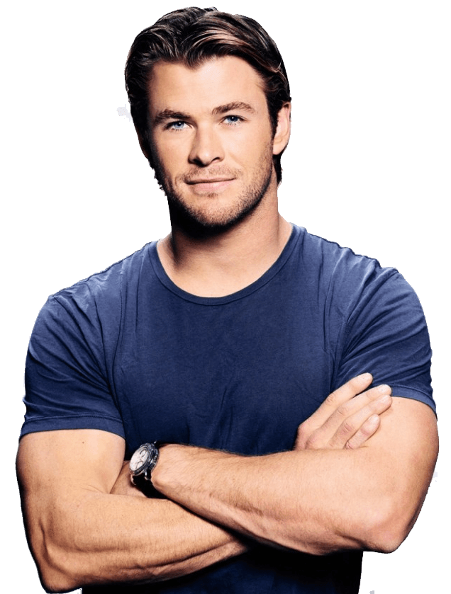 Chris Hemsworth Blue Tshirt