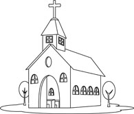 christian clipart. religion church black white .