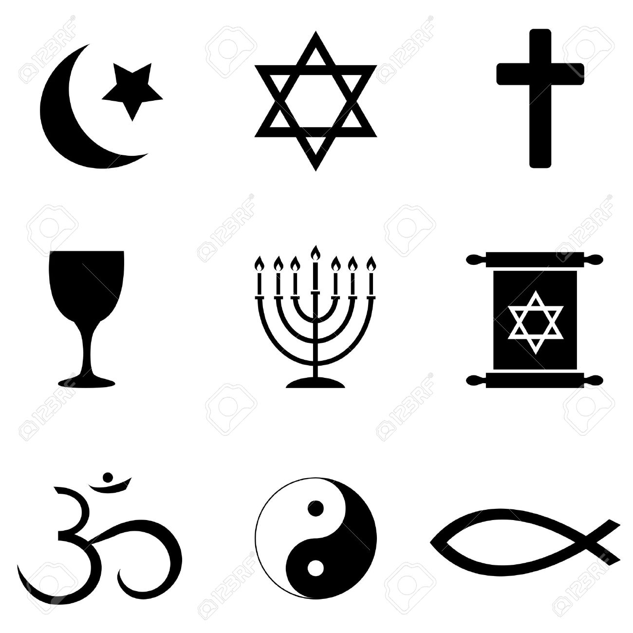 Christian Symbols Clip Art. Religious Sy-Christian Symbols Clip Art. Religious symbols around the .-2