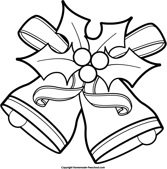 christmas clipart black and white-christmas clipart black and white-2