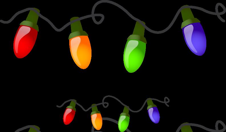 christmas lights border clipart