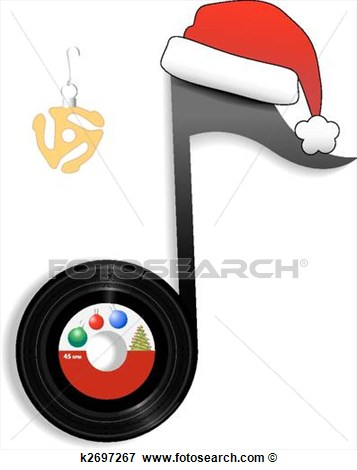 christmas music notes clipart