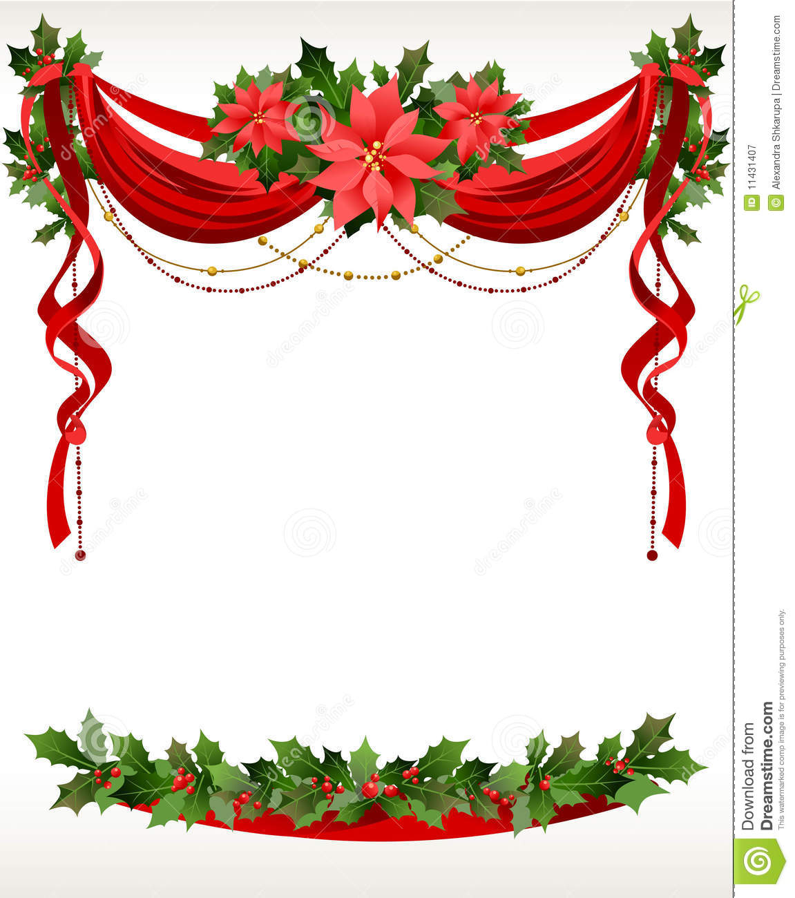 christmas picture frame clip art