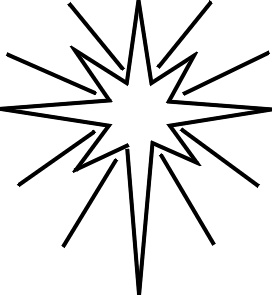 Christmas Star Clipart Black And White-christmas star clipart black and white-7