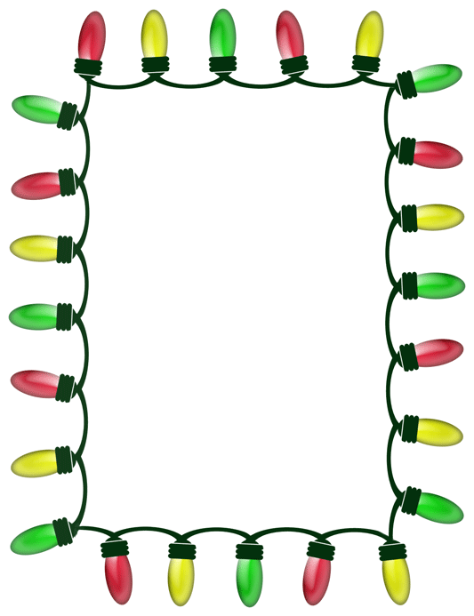 christmas tree border clipart