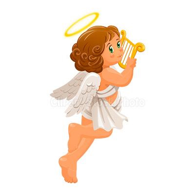 Christmas Angel Clip Art Free Cherub Guardian Angel Illustration