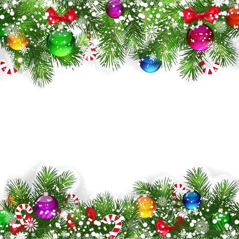Christmas Background With .