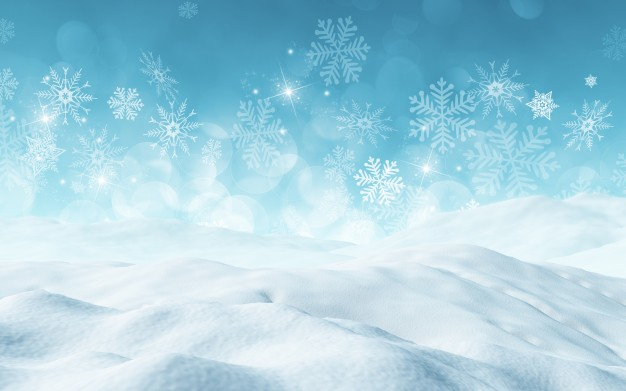Christmas Background With Snow-Christmas background with snow-0