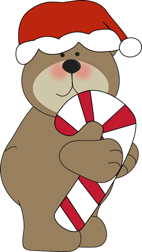 Christmas bear clipart - .