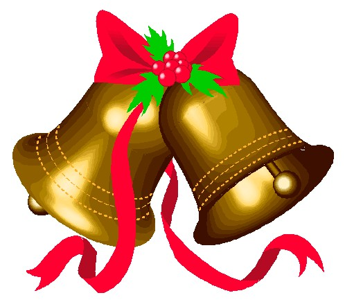 Christmas bell clipart .