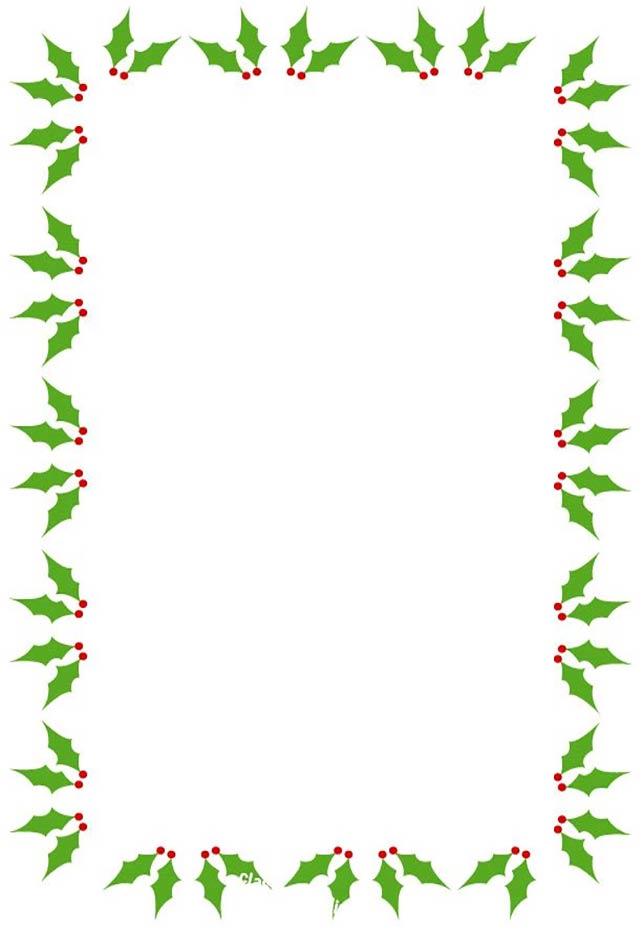 Christmas border 4 sides - Holly Clipart Border