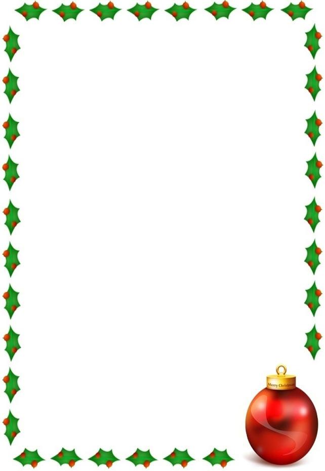 Christmas border with holly o - Clipart Christmas Borders