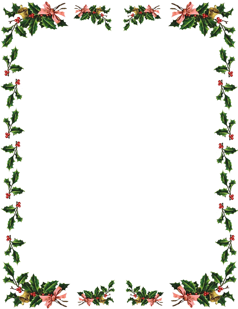 Christmas Borders And Frames  - Holly Clipart Border