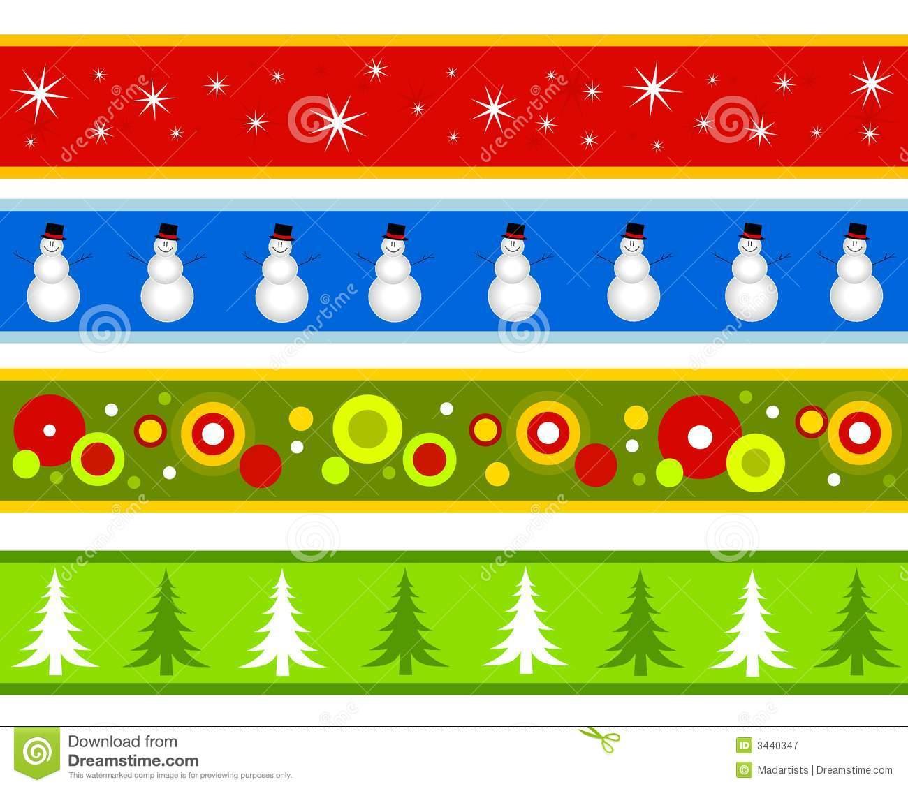 Christmas Borders Or Banners .-Christmas Borders or Banners .-3