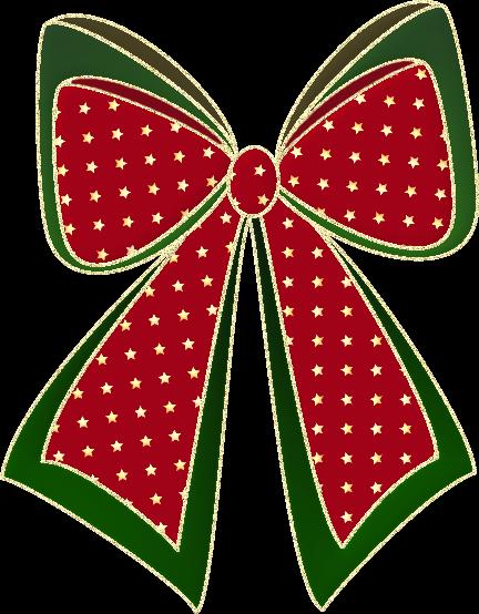 CHRISTMAS BOW CLIP ART. Christmas Bow - -CHRISTMAS BOW CLIP ART. Christmas Bow - Transparent .-4
