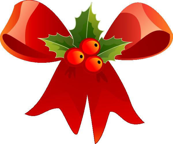 Christmas Bow With Holly Clip Art At Clk-Christmas Bow With Holly Clip Art At Clker Com Vector Clip Art-6