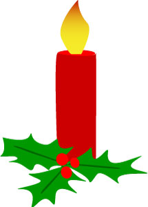Christmas Candle And Holly Clip Art-Christmas Candle And Holly Clip Art-3