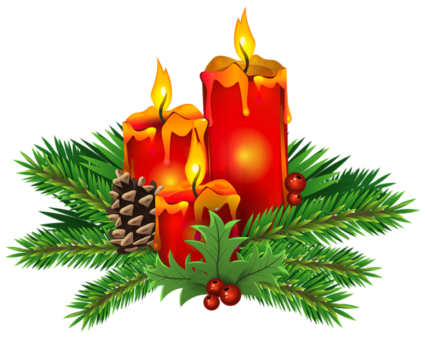 Christmas Candles PNG Clip Ar - Christmas Candle Clipart