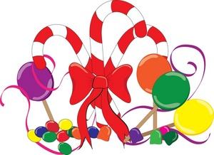 Christmas candy clip art .