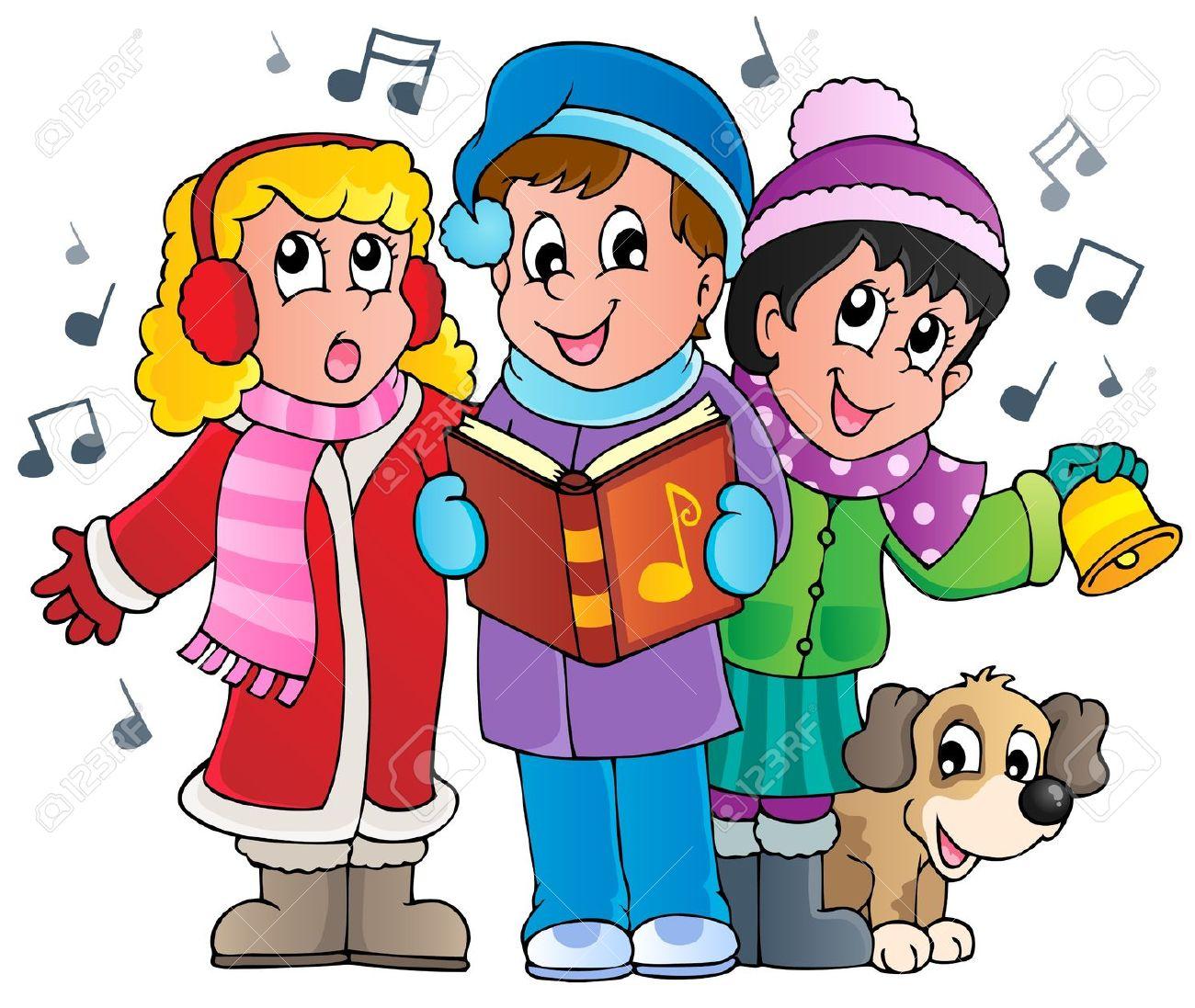 Christmas carol singers theme .-Christmas carol singers theme .-4