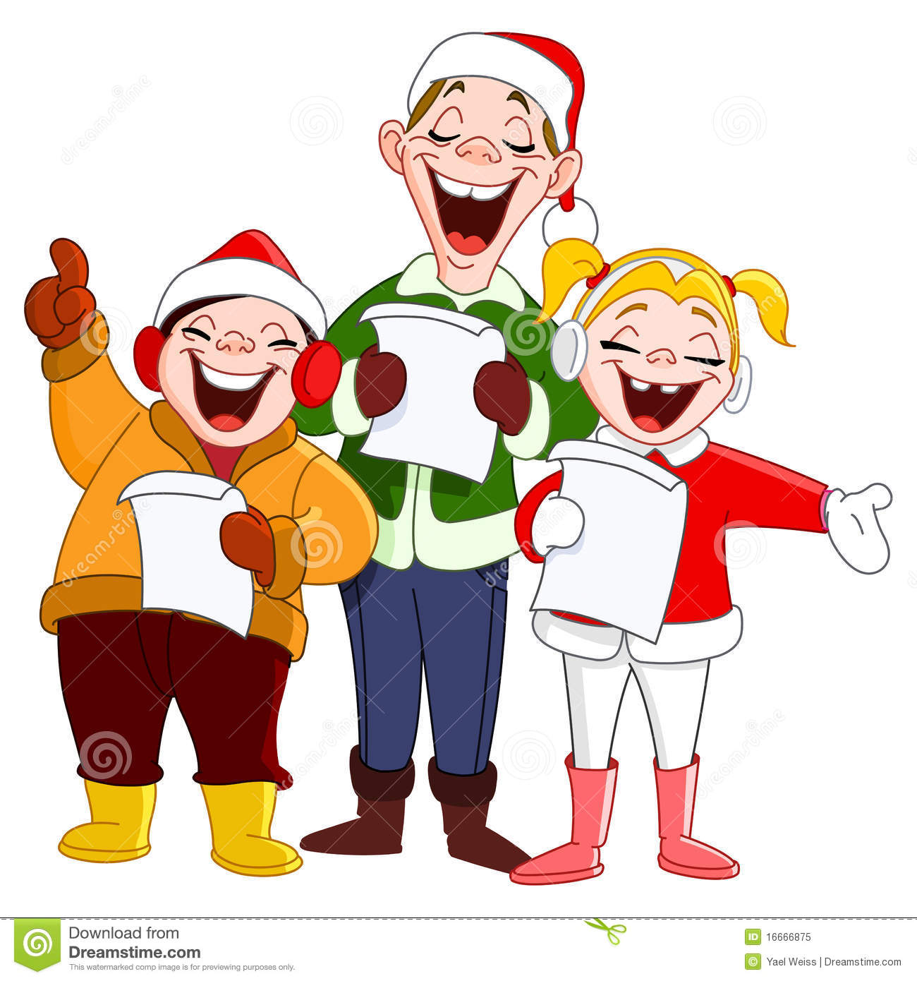 Christmas carolers clipart .