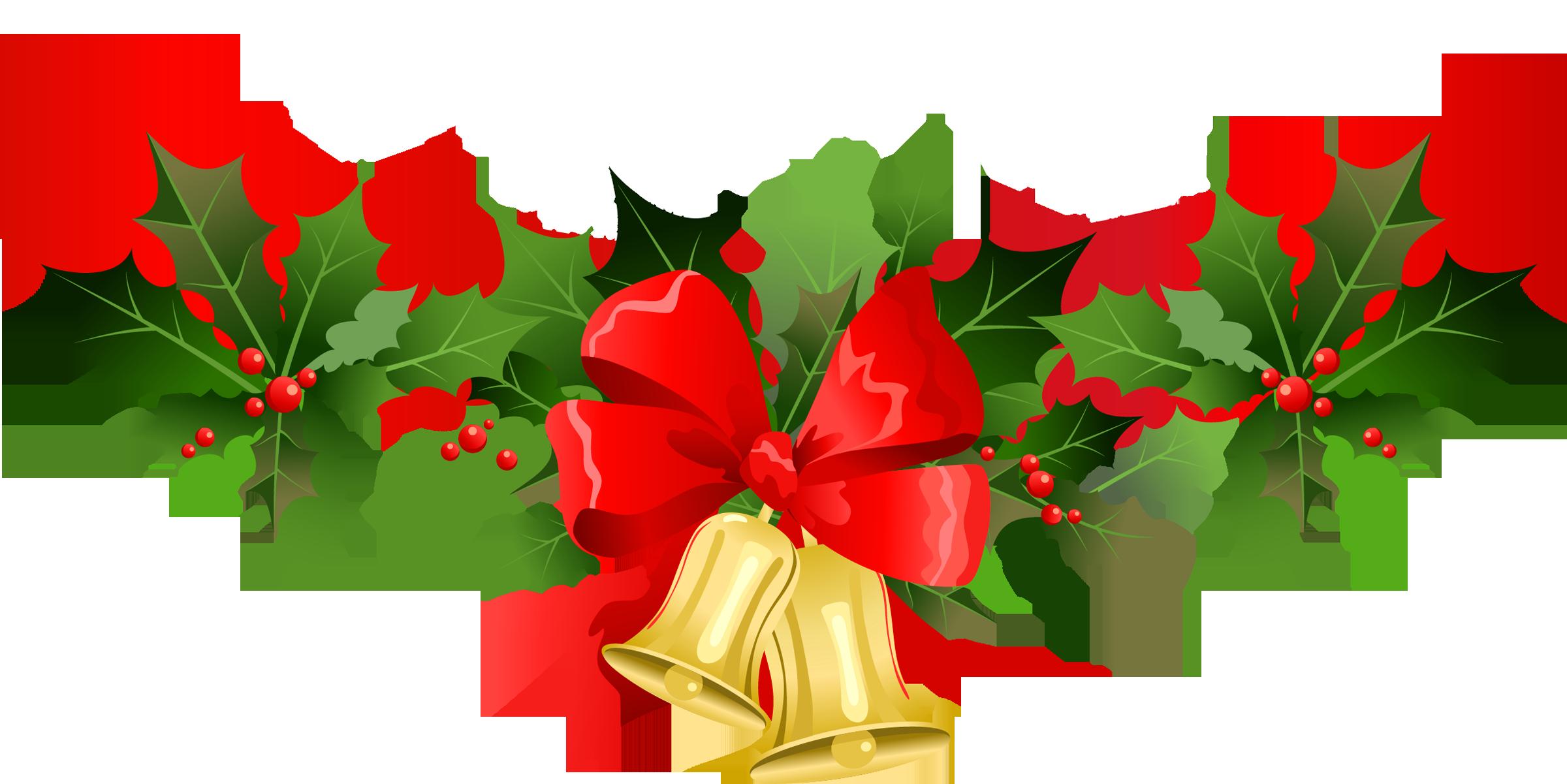 Christmas Clip Art Banners . - Christmas Bells Clip Art